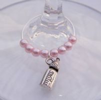 Baby Bottle Wine Glass Charms